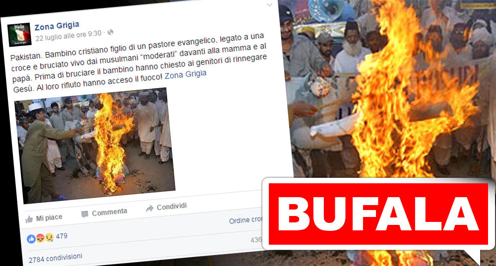 bufala-bambino-cristiano-pakistan-bruciato