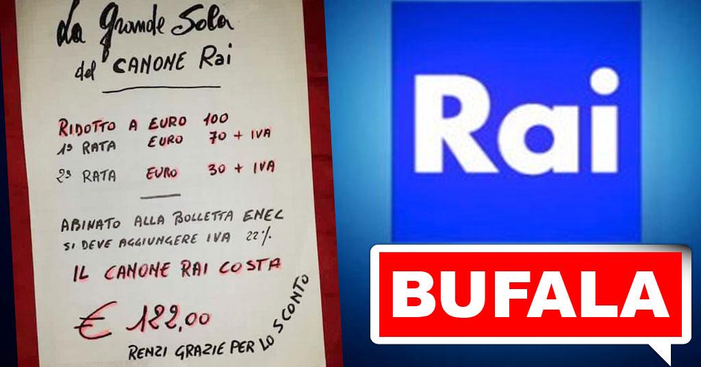 BUFALA La Grande Sola Del Canone Rai: Con Lu0027IVA Ci Costa 122 Euro