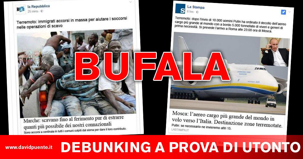 Terremoto Gli Screen Bufala Delle Pagine Facebook Dei Quotidiani