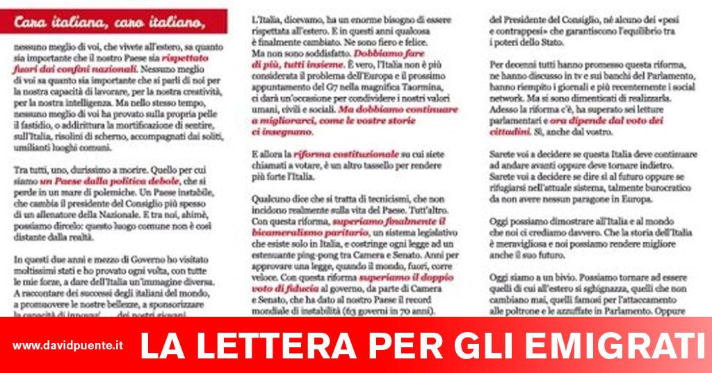 Il caso della lettera del Sì inviata agli italiani all estero. È illegale  fbbd69efb795