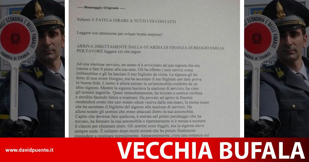 Torna La Bufala Della Droga Burundanga E Guardia Di Finanza Reggio Emilia